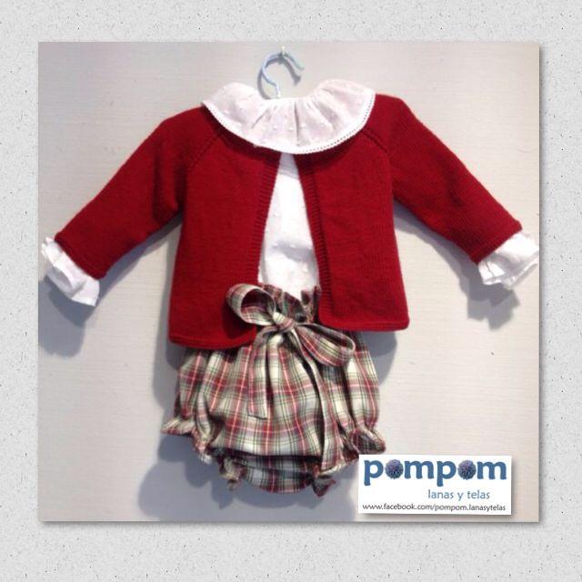 Conjunto niño #hechoamano #rojoguinda #kids #handmade #cuadros #moda #otoño