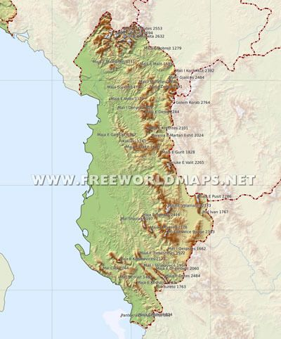 Albania Mountains Geography Bee Pinterest Map Vintage World