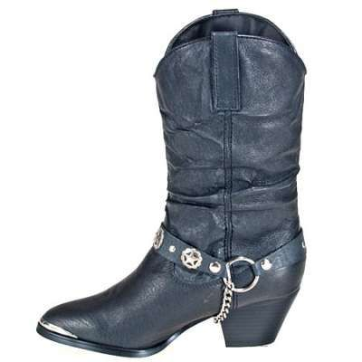 Dingo Boots: Women's Pigskin Leather Black Work Boots DI522