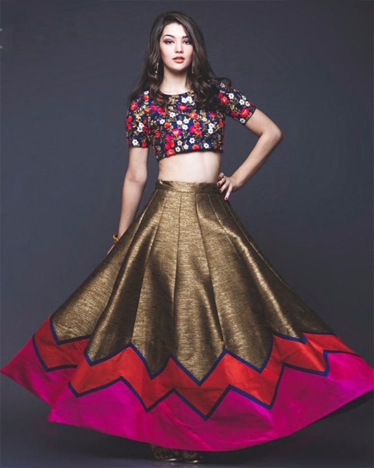 Your simplicity and charismatic persona pop out as you slip into this multicoloured embroidered satin designer lehenga set for fashion forwarded women #womensfashion #designerlehenga