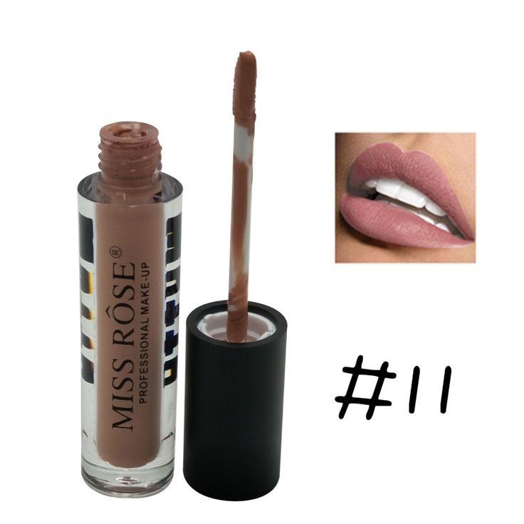 Beleza lábios vermelhos batuta fosco batom cor da moda à prova d' água maquiagem nude batom matte pigmento marrom lápis 12 cores em Batom de Beleza & Saúde no AliExpress.com | Alibaba Group
