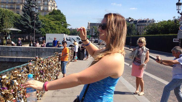 #paris #love #locket #bridge #throwing #key #intoriver