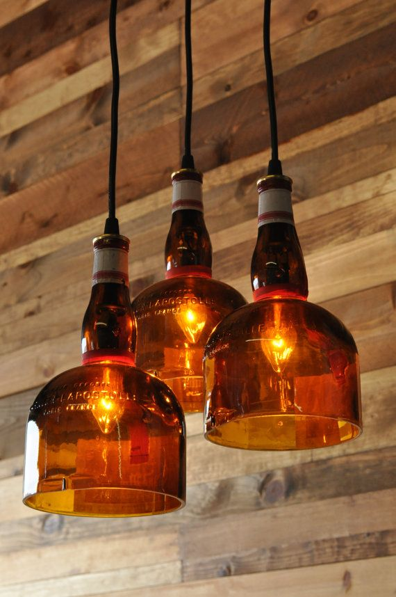 Recycled Bottle Gran Marnier Chandelier