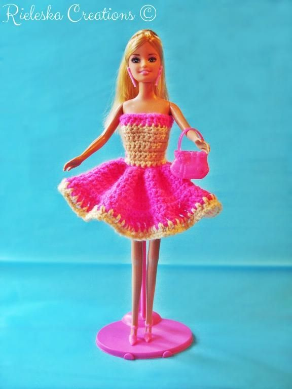 Looking for your next project? You're going to love  Pink Barbie Dress-doll dress by designer Rieles.