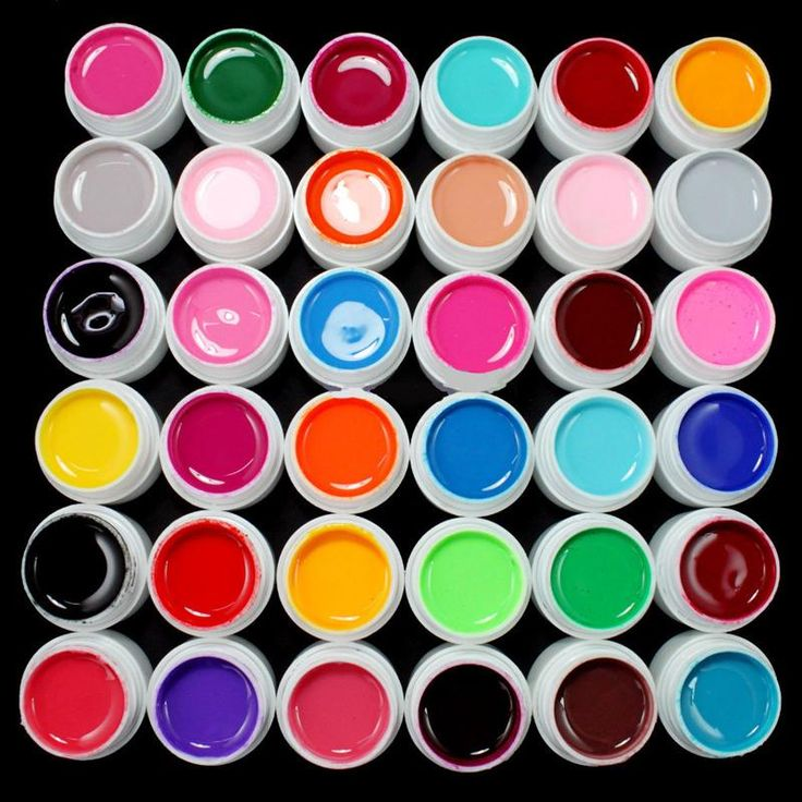 [Visit to Buy] 36 Pots/Set Pure Color Decor UV Gel Color For Nail Art Tips Extension Nail Gel French Manicure Brand #Advertisement
