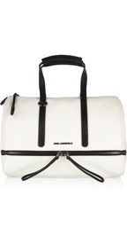 Karl LagerfeldTextured-leather bowling bag