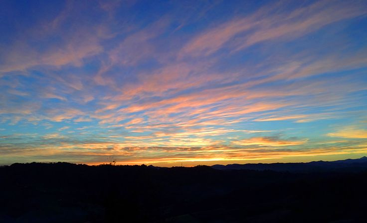 Alba dalle finestre di Woodly Sunrise from Woodly's windows  #Italy #Bed&Breakfast