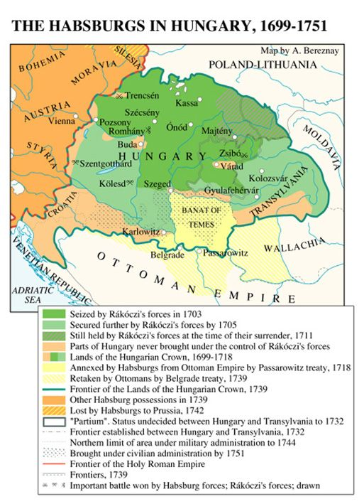 Hungary was incorporated into the Ottoman empire after the Battle of Mohács in 1526, except for a small sliver of territory referred to as 'Royal Hungary.' For the next 200 years, Hungarian history was all about the gradual retrieval of Hungarian territory from the Ottoman Turks & its incorporation into the Austrian Hapsburg empire. By 1867, Hungarians were in a strong enough position to insist on a 'dual monarchy' which then became known as 'Austria-Hungary.