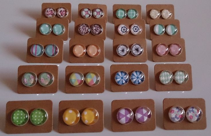 12mm glass dome stud earrings. $8.00 a pair plus postage.