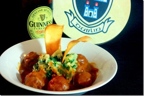 Meatballs with Guinness Onion Gravy (The Culinary Lens)