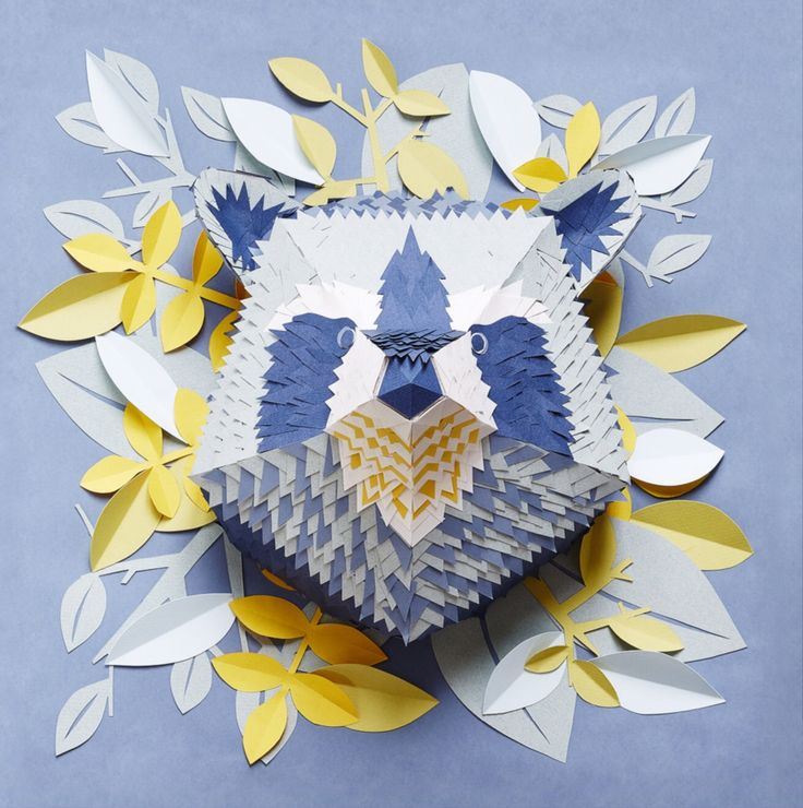 Paper raccoon - made by mlle hipolyte