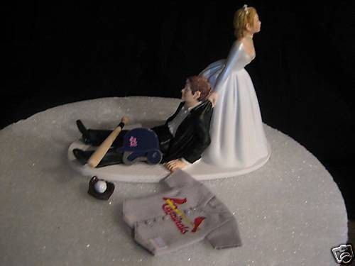 st louis cardinals baseball wedding cake topper by finsnhorns