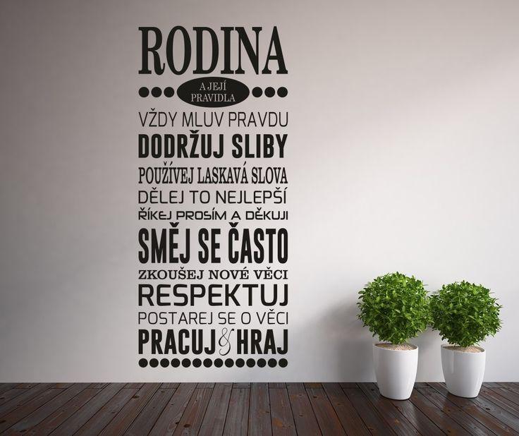 Samolepka na stěnu Family Rules | Bonami
