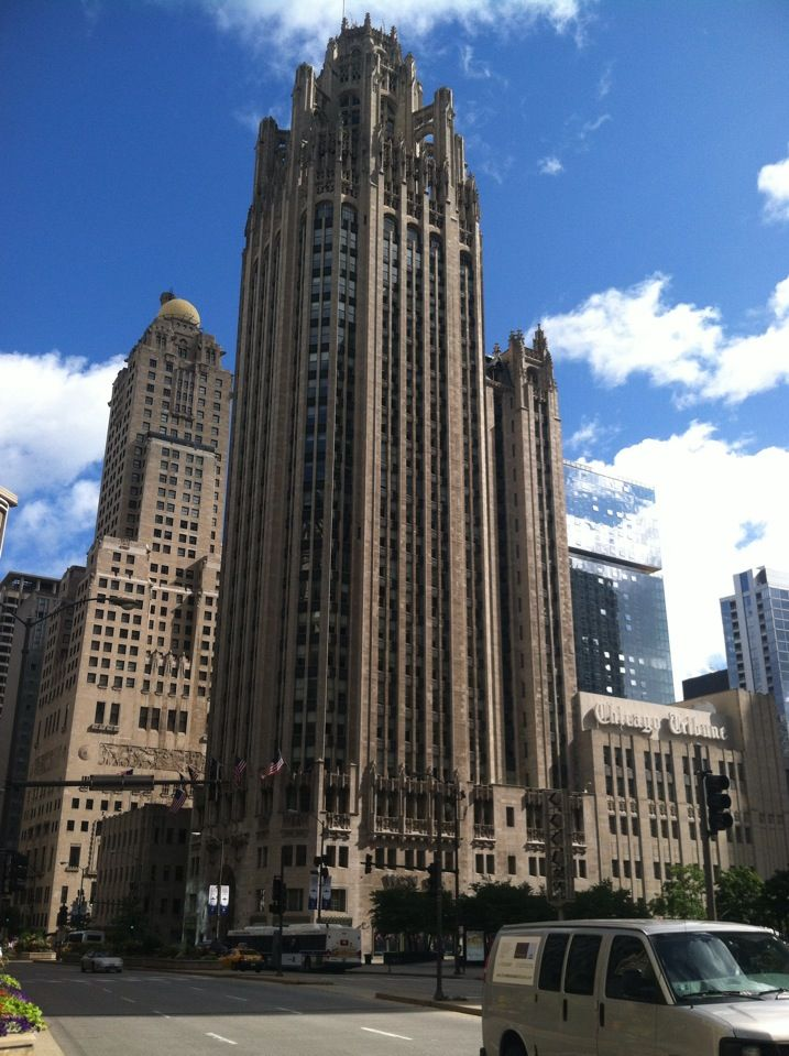 Tribune Tower in Chicago, IL - Classic architecture and home to the Chicago Tribune newspaper.