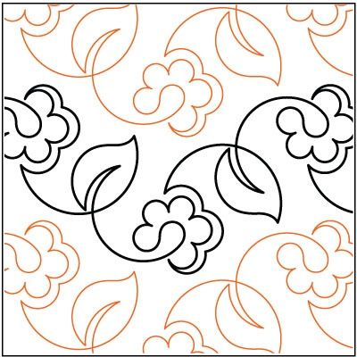 Free Long Arm Quilting Pantographs | Spring Vine quilting pantograph pattern by Lorien Quilting