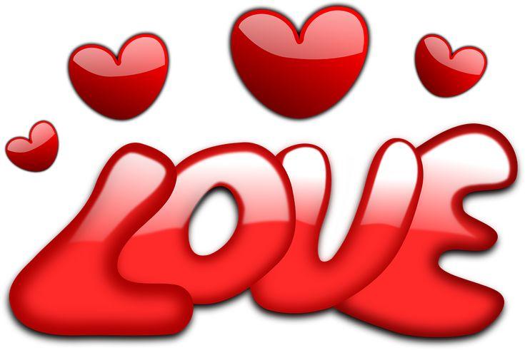 Elsker, Hjerter, Valentinsdag, Gloss, Rød