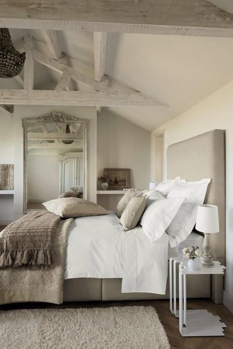 60 Gorgeous Master Bedroom Designs @styleestate. Very natural looking bedroom.  Calming colours.