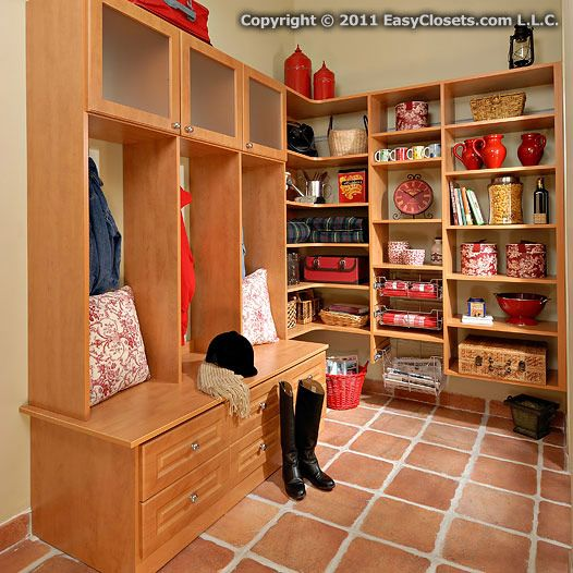 Mudroom Pantry Storage : Best images about pantry on pinterest shelves corner