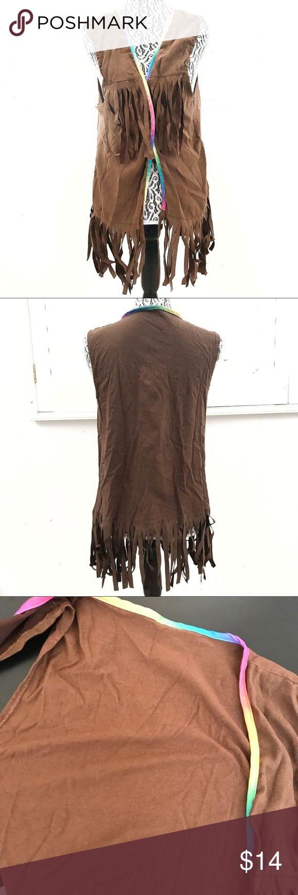 "Party City hippie fringe vest Pit to pit 21"" Length 29""  Tags: hippie Halloween costume Party City Jackets & Coats Vests"