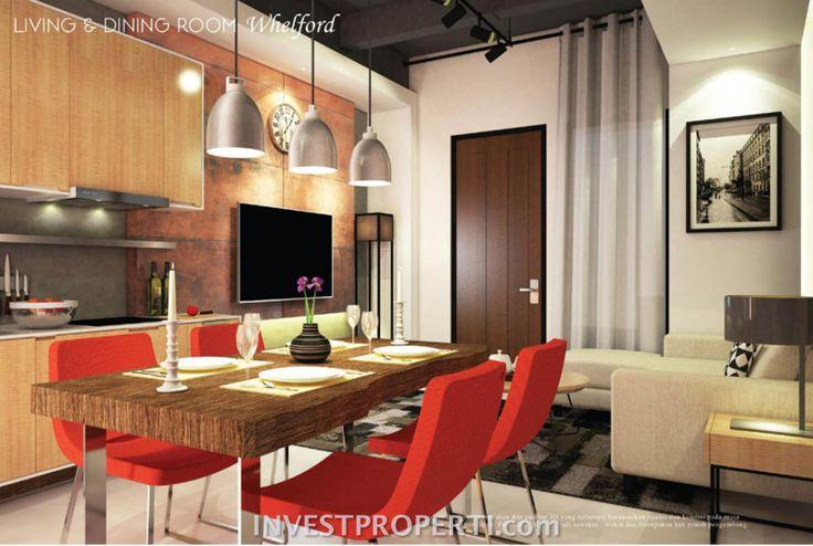 Contoh living room Rumah Whelford Greenwich Park BSD