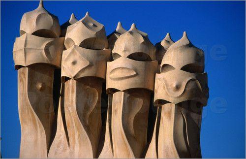 "Chimney pots look like phantoms at Casa Mila ""chimney pots"" - Google Search"