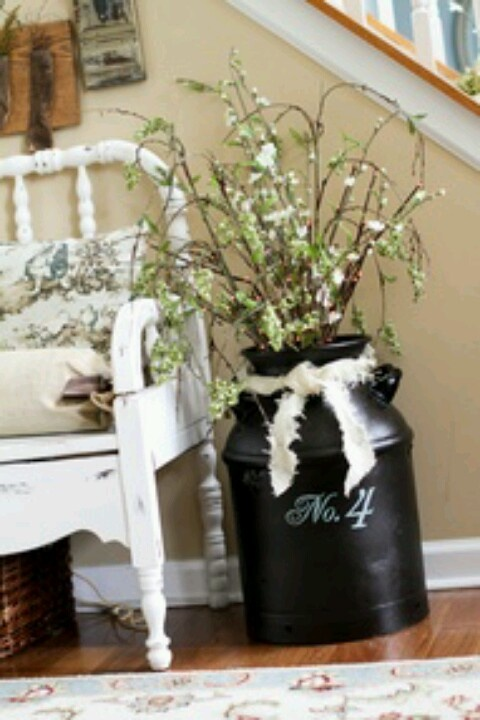 Milk can decor- can put address number on it