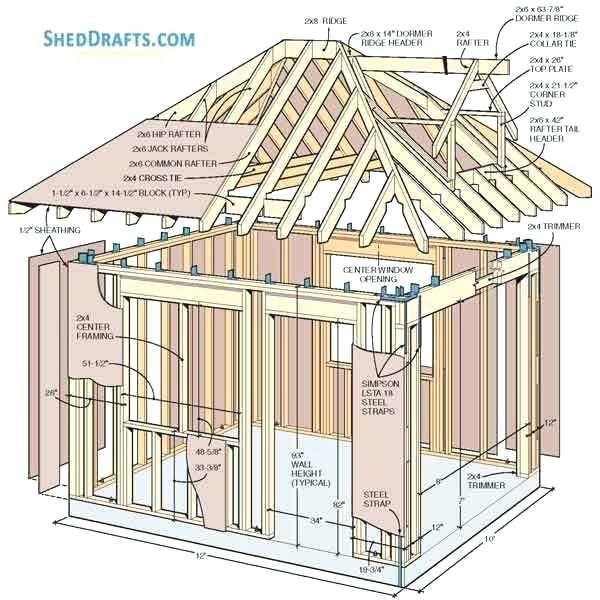 Hipped Roof Dormer Framing En 2020 Caseta De Madera Casas De Madera Tabiques De Madera