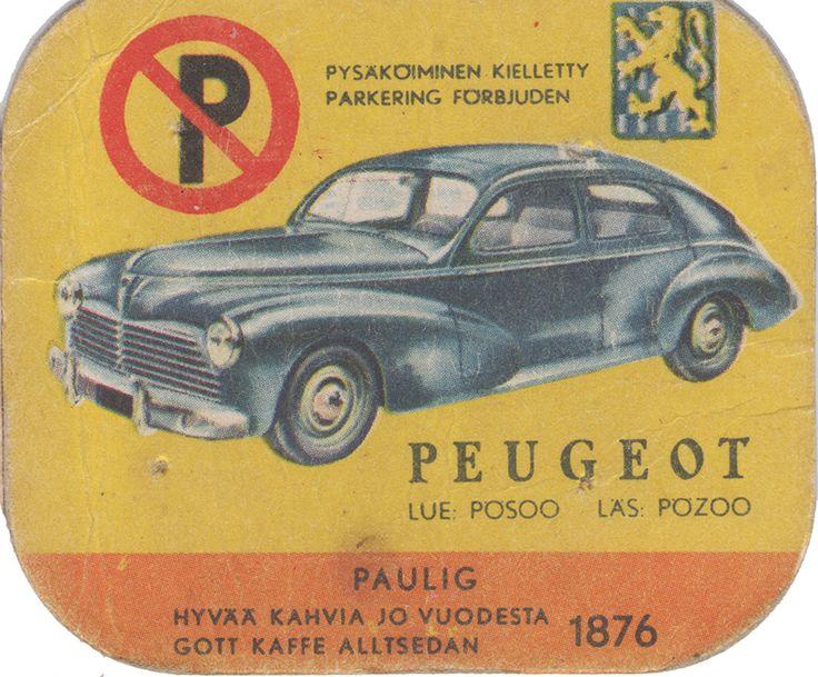 En nostalgitripp fram till jul med hjälp av Pauligs bilkort från mitten av 1900-talet. Peugeot #cars #vintage