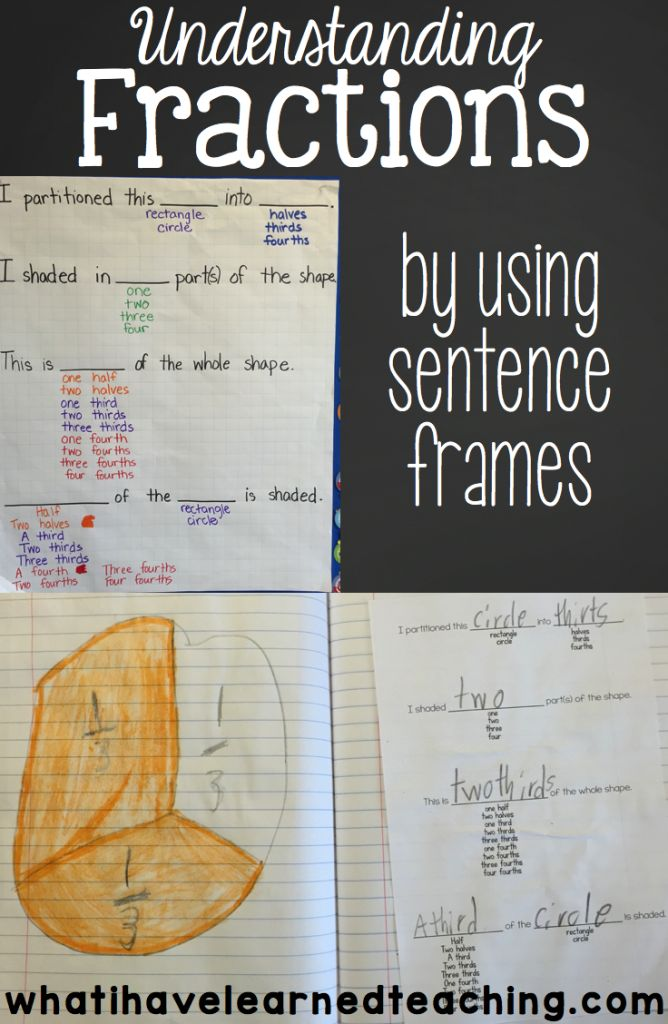 understand fractions by using sentence frames discover more best ideas about sentences and math. Black Bedroom Furniture Sets. Home Design Ideas