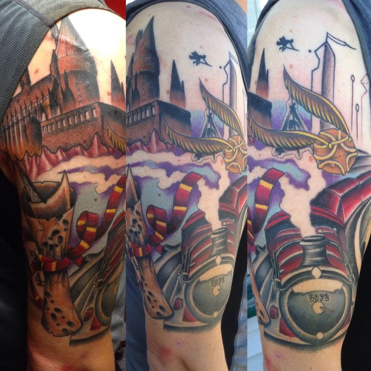 138 best harry potter tattoo images on pinterest harry for Harry potter sleeve tattoo