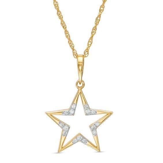 Zales 1/20 CT. T.w. Diamond Laser-Cut Star of David Pendant in 10K White Gold GvQlNFlHQ
