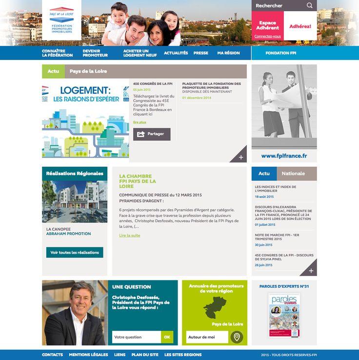 Nouveau site web de la région des Pays de la Loire de la Fédération des Promoteurs Immobiliers de France (FPI)