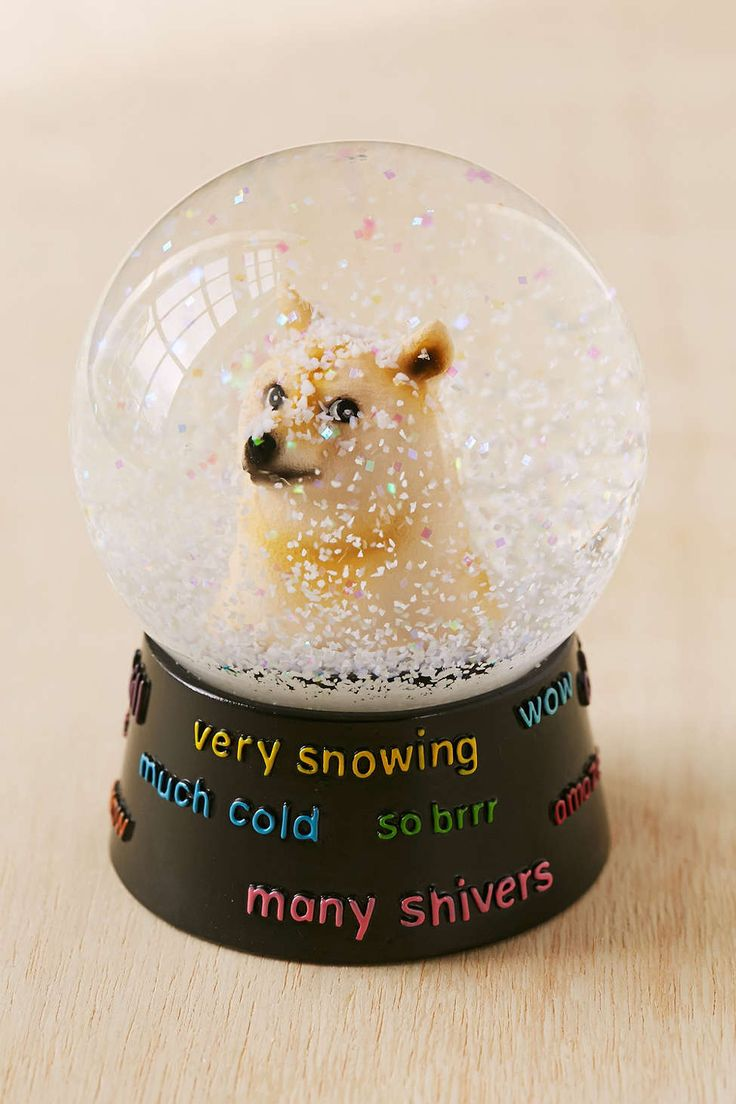 Doge Snowglobe // At Urban Outfitters - Doge is adorable and I have a collection of (mostly Christmas, but it doesn't matter) snowglobes. Much cute. Many snows.