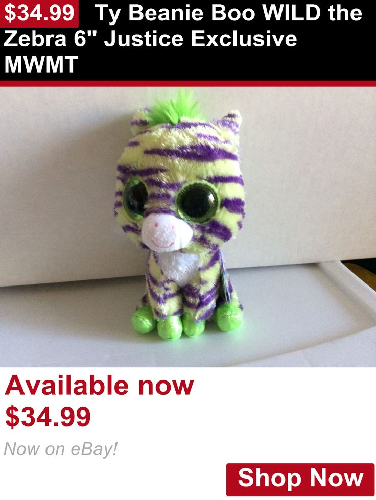 Binocular Cases And Accessories: Ty Beanie Boo Wild The Zebra 6 Justice Exclusive Mwmt BUY IT NOW ONLY: $34.99