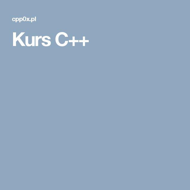 Kurs C++