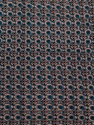 African Textile Patterns Real Wax Black Circles Design For Church Dress rw87704