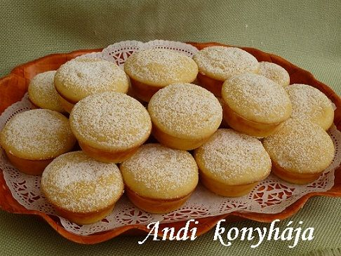 Citromos túrós muffin