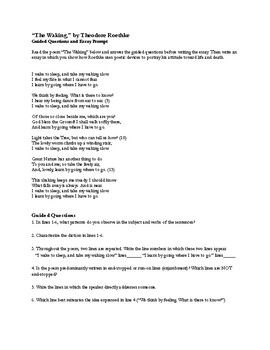 """Roethke's """"The Waking"""" Questions & Essay Prompt"""