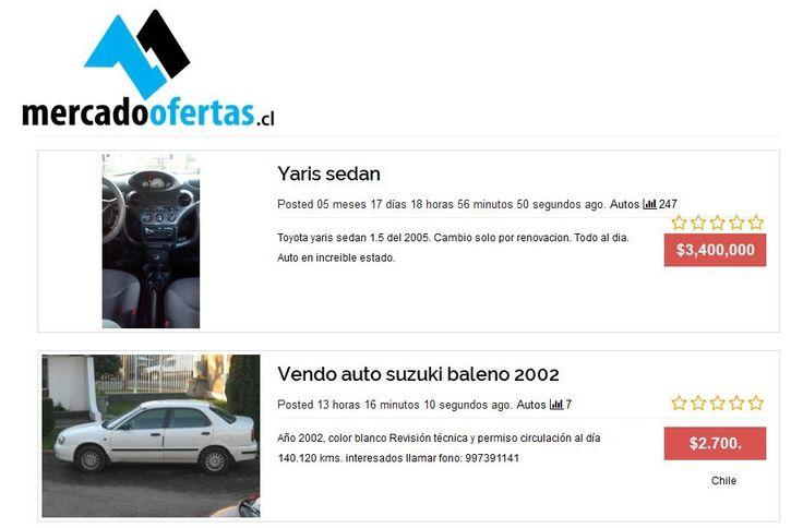 ¿Quieres comprar y vender autos usados en Chile? Publica anuncios de autos usados gratis en mercadoofertas.cl, que es un sitio web de clasificados gratuitos en línea perfecto para la compra y venta de autos usados en Chile