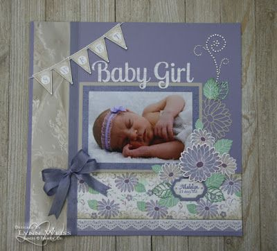 LW Designs: Stampin' Up! Special Reason Sweet Baby Girl Scrapbook Page