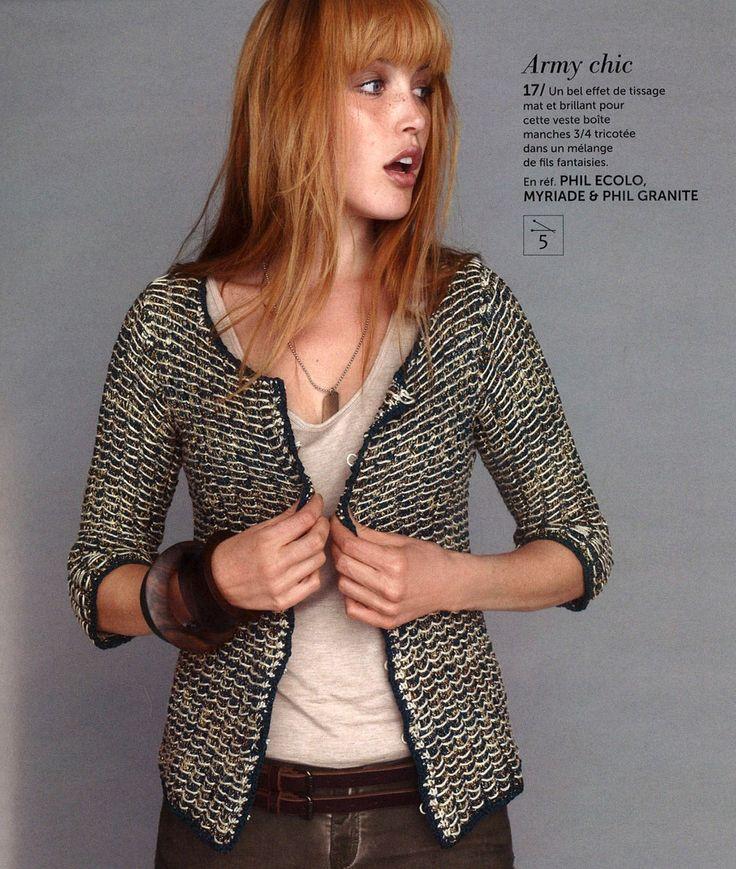 97 best Phildar Knitting Crochet Magazine images on Pinterest Knit crochet,...