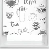 Great Tea and Coffee Graphite Contemporary Roller Blinds