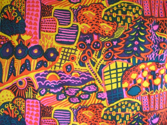 Rare Vintage 1972 Marimekko Eve Fabric from Finland by vanilladog, $500.00