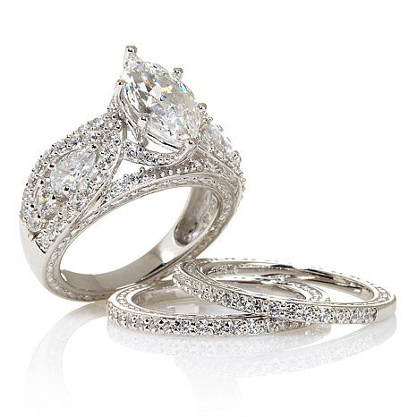 Shop Victoria Wieck 6.68ct Absolute™ 101-Facet Marquise 3-piece Ring Set, read customer reviews and more at HSN.com.