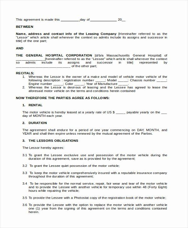 Vehicle Lease Purchase Agreement Template Beautiful Sample Lease Purchase Agreement In 2020 Purchase Agreement Agreement Web Design Contract