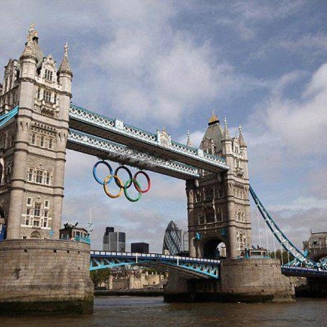 Olympic rings on London Bridge!: Favorite Places, Tower Bridge, Olympic Rings, London Olympics, Bridges, Destination