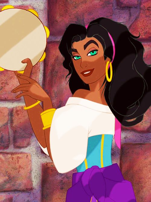 Esmeralda has always been my favorite and role model--she taught me not to be afraid to be who I am, to not give importance to looks when making friends, and to stand up for what you believe in.