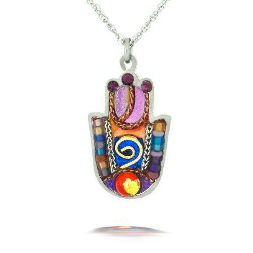 Multicolor Hamsa with Shaddai Necklace from the Artazia Collection #617RD JN MN The Artazia Collection. $64.00. See our Total Satisfaction Pledge and easy return and refund policy. A variety of colored beads and textured metal pieces decorates each unique pendant. Each piece is truly like a miniature artwork