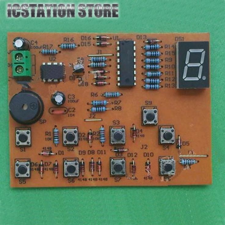 8 Channel Digital CD4511 Responder Bagian Elektronik Komponen Las Papan PCB Solder Praktek Praktek Percobaan DIY Kit