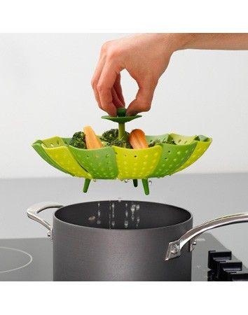 Cestello vapore Lotus Verde per l'amica salutista e sempre a dieta: cestello per cottura a vapore!